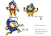 Cartoon: Studies of a mascot (small) by bennaccartoons tagged davies,paint,study