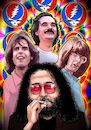 Cartoon: The Grateful Dead (small) by Joshua Aaron tagged jerry,garcia,grateful,dead