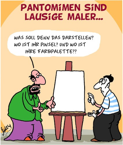 Cartoon: Lausig (medium) by Karsten tagged kunst,künstler,maler,pantomimen,talent,lehrer,kunst,künstler,maler,pantomimen,talent,lehrer
