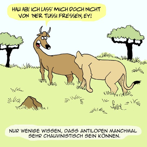 Cartoon: Neulich in der Natur... (medium) by Karsten tagged natur,afrika,wildnis,tiere,wildtiere,savanne,löwen,antilopen,natur,afrika,wildnis,tiere,wildtiere,savanne,löwen,antilopen