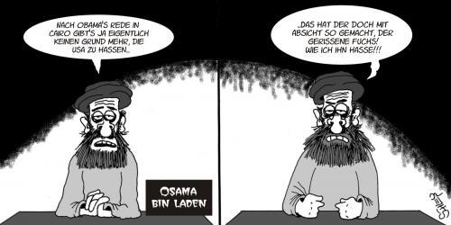 Cartoon: Obama in Cairo (medium) by Karsten tagged usa,naher,osten,terror