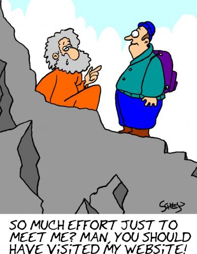 Cartoon: So much effort just to meet me? (medium) by Karsten tagged nature