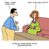 Cartoon: A Hard Blow! (small) by Karsten tagged marriage,women,men,love,relationships,separation,divorce