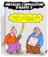 Cartoon: Alerte!! (small) by Karsten tagged covid,19,technologie,portables,sante,education,fake,news,complots,politique