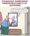 Cartoon: Coronavirus Consequences (small) by Karsten tagged coronavirus,consequences,sante,politique,distance,relations