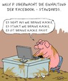 Cartoon: Das passt. (small) by Karsten tagged facebook,hasskommentare,rassismus,medien,internet,computer,technik,demokratie,meinung,polemik,standards,gesellschaft,deutschland,europa,profit,kapitalismus