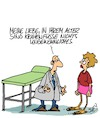 Cartoon: Ganz normal (small) by Karsten tagged ärzte,patienten,gesundheit,frauen,alter,aussehen,schönheit,gesellschaft
