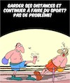 Cartoon: Garder la Distance!! (small) by Karsten tagged covid19,distance,sante,politique,sports