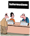 Cartoon: Informations (small) by Karsten tagged service,clientes,personnel,business,pub,professions