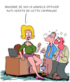 Cartoon: La Nouvelle (small) by Karsten tagged sexisme,hommes,femmes,economie,business,carriere