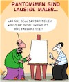 Cartoon: Lausig (small) by Karsten tagged kunst,künstler,maler,pantomimen,talent,lehrer