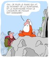 Cartoon: Le Sage (small) by Karsten tagged sagesse,mythes,livraison,philosophie,pizza,nutrition,montagnes,prix,economie