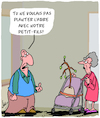 Cartoon: Petit-Fils (small) by Karsten tagged arbres,grands,parents,famille,age,petits,enfants