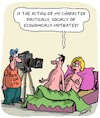 Cartoon: The Art of Acting (small) by Karsten tagged actors,films,pornography,entertainment,sex,motivation,characters,drama,media,professions