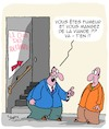 Cartoon: Tolerance (small) by Karsten tagged tolerance,nutrition,clubs,fumeurs,viande