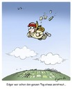 Cartoon: zerstreut (small) by Egero tagged zerstreut absentminded fallschirm egero oliver eger