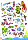 Cartoon: crustaceans (small) by kahramankilic tagged kahraman,kilic,illustraiton,cartoon