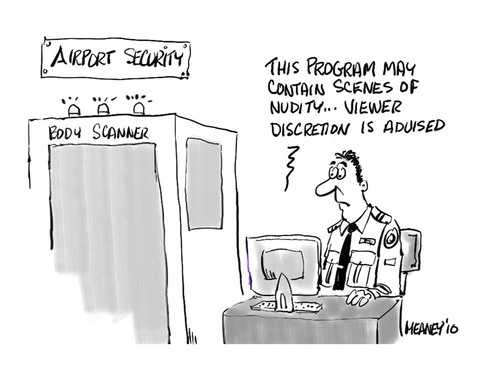 Cartoon: Privacy? (medium) by John Meaney tagged scanner,security,body
