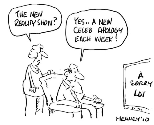 Cartoon: Reality (medium) by John Meaney tagged reality,truth,tv