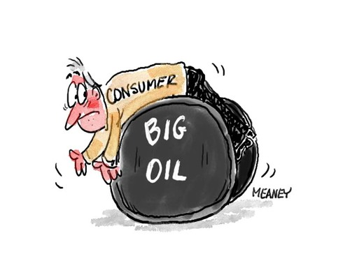Cartoon: You Bet We Are (medium) by John Meaney tagged oil,prices,gas,petrol,car