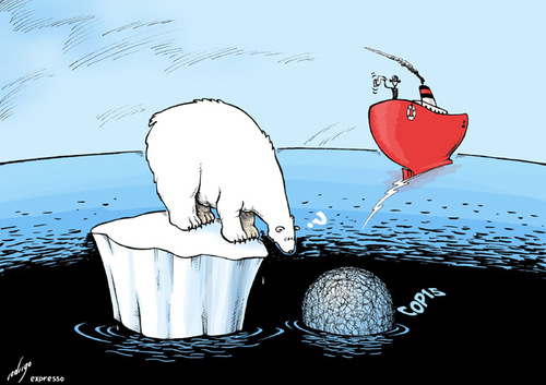 Cartoon: Copenhagen summit (medium) by rodrigo tagged copenhagen,summit,environment,global,warming