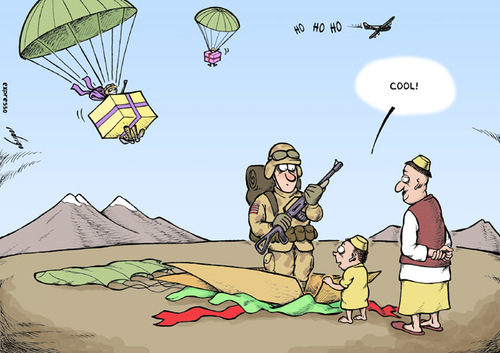 Cartoon: More troops to Afghanistan (medium) by rodrigo tagged afghanistan,troops,american,usa,us,united,states,obama,military