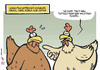 Cartoon: Avian flu upset (small) by rodrigo tagged bird,flu,avian,influenza,chicken,h5n8,h5n9,h7n9