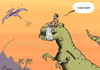 Cartoon: Economic opinion (small) by rodrigo tagged economic,opinion,analysis,trex,dinosaur,market