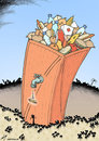 Cartoon: Hungry Haiti (small) by rodrigo tagged haiti,earthquake,humanitarian,aid,food,medicine,poor,tragedy
