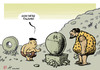 Cartoon: Koreolithic (small) by rodrigo tagged north,korea,kim,jong,un,hbomb,hydrogen,bomb,nuclear,war,warfare,weapon