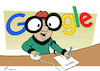 Cartoon: Mr. Magoogle (small) by rodrigo tagged google mister magoo fine search engine results abuse market shopping service