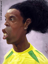Cartoon: Ronaldinho Gaucho (small) by alvarocabral tagged caricature