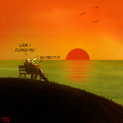 Cartoon: Sunset (medium) by Yavou tagged sunset,cartoon,shore,dusk,shoreline,ocean,sea,romantic,couple,bench,yavou,seagulls,gulls,sunset,cartoon,shore,shoreline,ocean,sea,romantic,couple,bench,yavou,seagulls,gulls