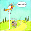 Cartoon: Bestzeit - ENG (small) by Yavou tagged record,running,dog,yavou,cartoonbiting,park,jogging,sport,cartoon