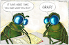 Cartoon: Dung flies (small) by Yavou tagged dung flies crap nutrition yavou insects cartoon