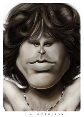 Cartoon: Jim Morrison (medium) by sinisap tagged caricature
