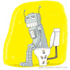 Cartoon: Roboter (small) by ichglaubeshackt tagged roboter,klo,klowitz,toilette,batterie