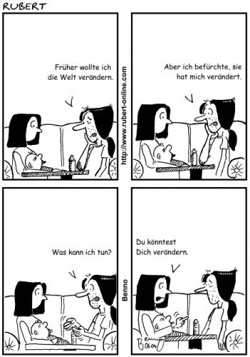 Cartoon: Änderungen (medium) by benno tagged veränderung