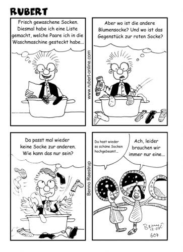 Cartoon: Verlorene Socken - Folge 2 (medium) by benno tagged socken,ufos