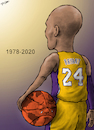 Cartoon: Kobe Bryant 1978-2020 (small) by cartoonistzach tagged sports,basketball,kobe,bryant,nba,caricature
