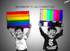Cartoon: Rainbow Flag Examples (small) by cartoonistzach tagged rainbow,flag,new,york,times,cartoon,pride,censorship