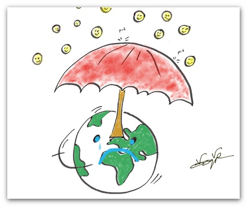 Cartoon: Our World (medium) by karakugu tagged umbrella,world,smile