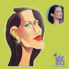 Cartoon: caricature of Eva Green (small) by Gamika tagged cartcature