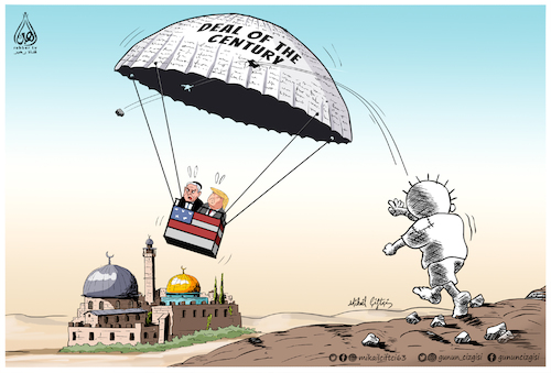 Cartoon: Deal of the century (medium) by Mikail Ciftci tagged deal,century,palestine,aqsa,mikail