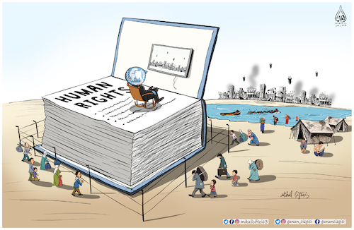 Cartoon: Human rights ! (medium) by Mikail Ciftci tagged human,right,december,10,un,mikail