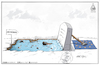 Cartoon: death in the mediterranean (small) by Mikail Ciftci tagged war,refugee,mikail,death,mediterranean