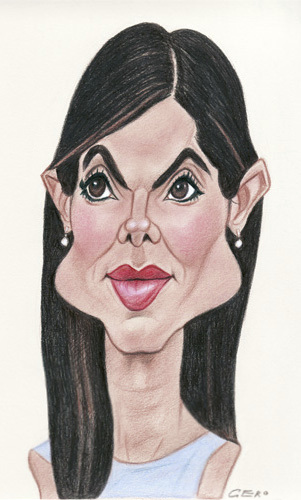 Cartoon: Sandra Bullock (medium) by Gero tagged caricature