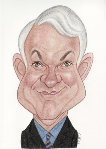 Cartoon: Steve Martin (medium) by Gero tagged caricature