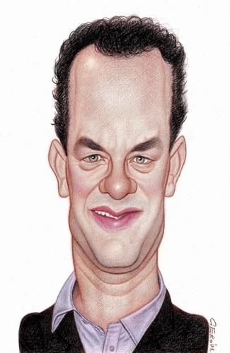 Cartoon: Tom Hanks (medium) by Gero tagged caricature