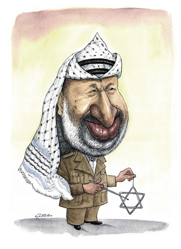 Cartoon: Yasser Arafat (medium) by Gero tagged caricature